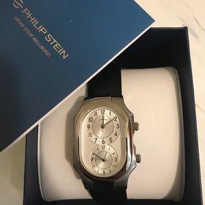 Philip Stein Dual Wristwatch Stainless Steel